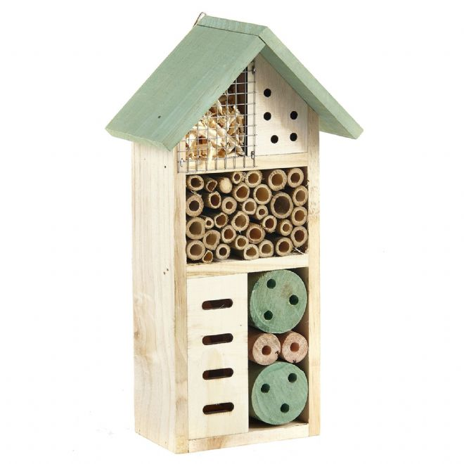 Pet Ting Green Wooden Insect Hotel